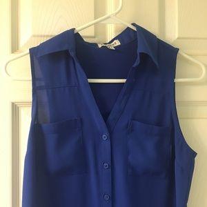 Portofino sleeveless top size XS royal blue